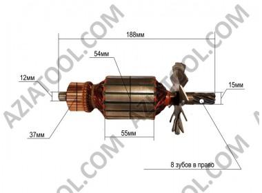 Якорь (торцовочная пила Титан) L-188*Dж-54*dкол.-37*8 зубов