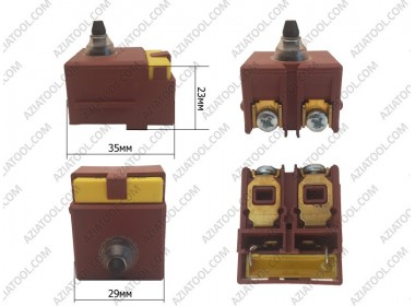 Кнопка на 125В болгарку под конденсатор
