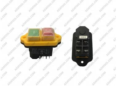 Кнопка бетонка 5 контактов жёлтая